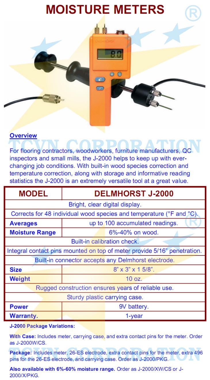 delmhorst j 2000 moisture meter manual