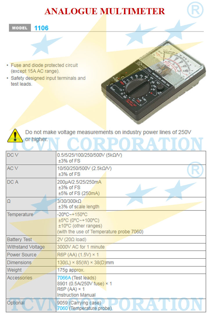 Multimeter Vom Kyoritsu 1106 Tcvn Group Digital 2001 With Clamp Sensor Tags Dong Ho Van Nang